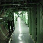 De verbindingstunnel tussen silo en controlekamer