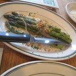 Enjoyed grilled asparagus whilst pizza baked...