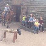 showing the kids roping skills