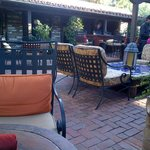 Patio at mustang and burros restaurant