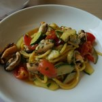 Fantastic tonnarelli with mussels and zucchini