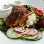 Her Grouper on an Eclectic Salad