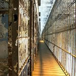 A line of cells on the 2nd floor of the cell block