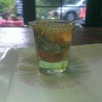 oyster 22 shot. lemon pepper rim taunton bay oyster