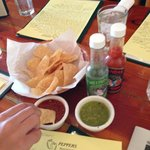 Chip & salsa to greet you with the menu