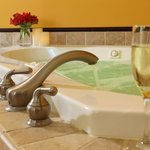 Enjoy a romantic getaway in our East River suite with Jacuzzi tub for two
