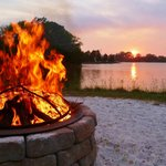 Relax around our waterside fire pit
