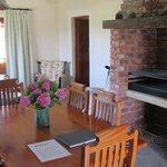 Indoor Braai and living room