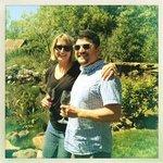 Wife and I enjoying vino!
