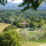 View from Villa Montagna over the 7 farmhouses downhill