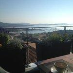 La vue panoramique lorsque vous prenez le petit déjeuner!