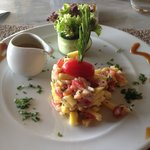 Repas du midi Tartare Saumon Mangue