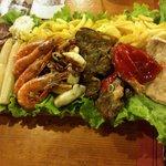 Un plato ideal para compartir en O Casal do Cabildo