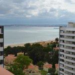Vista praia do apartamento