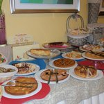 Delicious cake & pastries on Breakfast Buffet