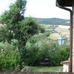 Panorama dal piccolo terrazzo