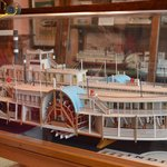 model steamboat on display