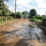 Rua da Pousada depois da chuva