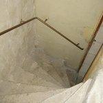 Escalier envers la chambre