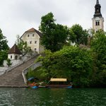 Chapel Island on the lake Bled