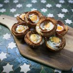 The famous egg and bacon tarts