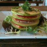 1000 feuille de pommes bio, chorizo et ricotta