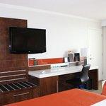 chambre très propre et confortable et fonctionnelle.