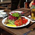 Salat mit Lammfilets