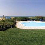 vista della piscina/ swimming pool view