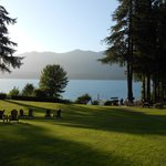Lake Quinault and north shore from the lodge's big lawn
