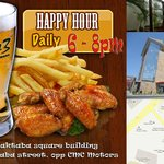 Happy hours, 6 to 8pm, Mon to Fri