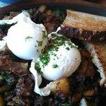 pastrami kale hash