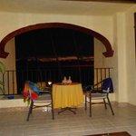 The balcony at Lindo Mar