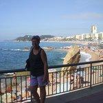 My partner by Lloret De mar beach.