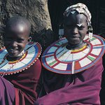Two lovely maasai girls pose for the paparazzi