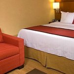 Picture of sofabed on left from the hotel web site.  Ours was smaller than advertised.