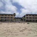 view from the beach looking back at hotel
