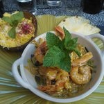 Spicy prawns - main course