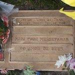 Plaque on Ayrton Senna's grave