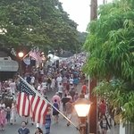 View pf Front Street from Moose's on the 4th of July