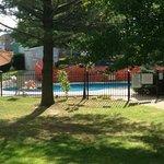 vue sur piscine extérieure
