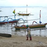 Sanur Beach is just steps from the hotel