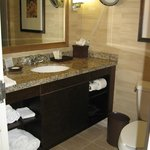 Bathroom vanity in Executive Level room