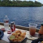 Fried Shrimp Basket w/ a side of scenery