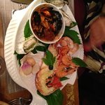 seafood in Vine Leaf