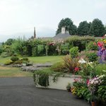 Gardens and view of the Mourne Mountains