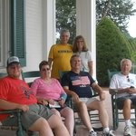 Our Family relaxing on the porch before the tour