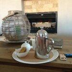 Freshly ground coffee by the open fire - Kingsmead luxury!