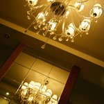 little chandelier at living room