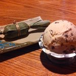 Red Bean Ice Cream and other treat wrapped in bamboo leaves